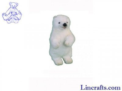 Soft Toy Polar Bear by Hansa (34cm) 5303