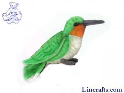 Soft Toy Bird, Hummingbird by Hansa (10cm.L)