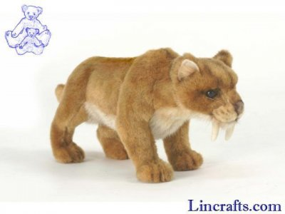 Soft Toy Extinct Animal, Sabre Tooth Tiger by Hansa (31cm)