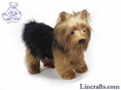 Soft Toy Dog, Yorkshire Terrier by Hansa (28cm) 5900