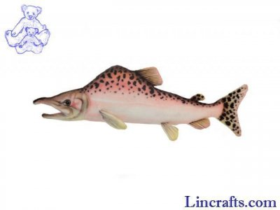Soft Toy Fish, Pink Salmon by Hansa (34cm)