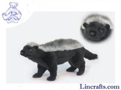 Soft Toy Ratel (Honey Badger) by Hansa (33cm)