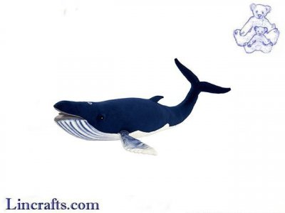 Soft Toy Water Mammal, Humpback Whale by Hansa (59cm.L) 6289
