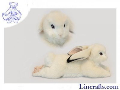 Soft Toy White Lop Eared Bunny by Hansa (40cm) 6523