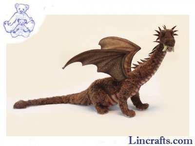 Soft Toy Sitting Dragon by Hansa (72cm)
