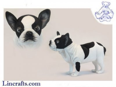 Soft Toy French Bulldog by Hansa (50cm.L) 6601