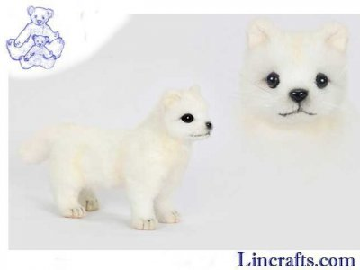 Soft Toy Snow Fox Cub Standing by Hansa (20cm.L)
