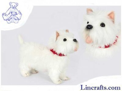 Soft Toy West Highland Terrier White by Hansa (35cm.L) 6844