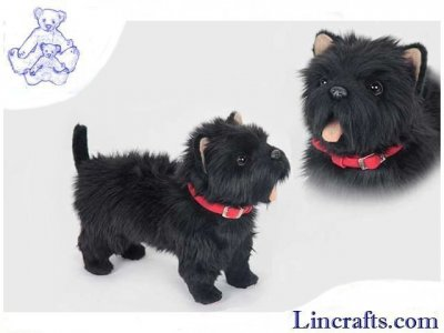 Soft Toy Dog, West Highland Terrier, Black by Hansa (35cm.L) 6845