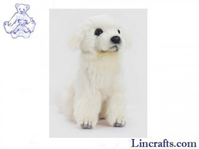 Soft Toy Maremma Guardian Pup Sitting  by Hansa (23cm. H)