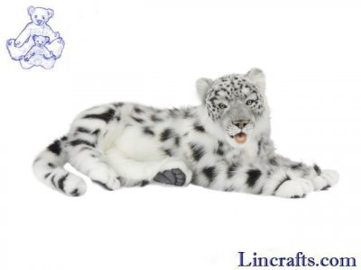 Soft Toy Widcat, Snow Leopard Lying by Hansa (66cm. L) 6999