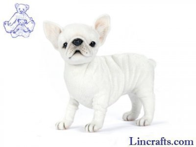 Soft Toy Dog, French Bulldog by Hansa (18cm)