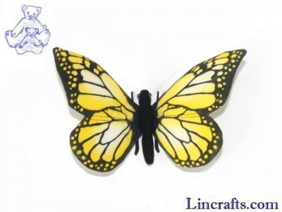 Soft Toy Yellow Butterfly by Hansa (14cm) 7101