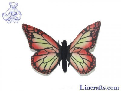 Butterfly Red by Hansa 14cm
