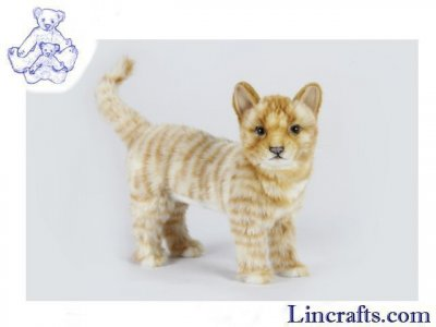 Soft Toy Ginger Tabby Cat by Hansa (25cm.H) 7178