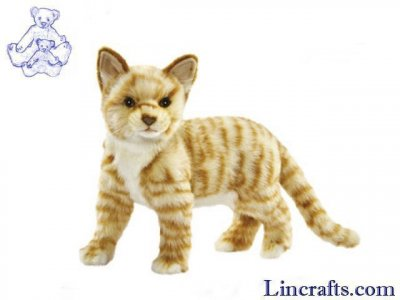 Soft Toy Ginger Cat by Hansa (31cm.H) 7230