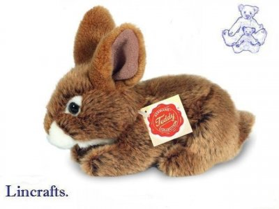 Soft Toy Brown Bunny Rabbit by Teddy Hermann (19cm) 93709
