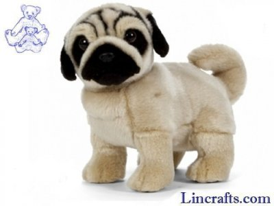 Soft Toy Pug Standing by Living Nature (25cm)