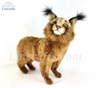 Soft Toy Caracal Cat Standing by Hansa (30cm) 7049