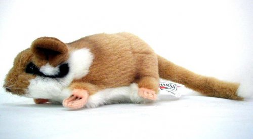 Soft Toy Rodent, Garden Mouse by Hansa (17cm)