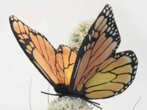 Soft Toy Monarch Butterfly by Hansa (14cm)