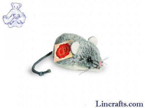 Soft Toy Rodent, Grey Mouse By Teddy Hermann (10cm)