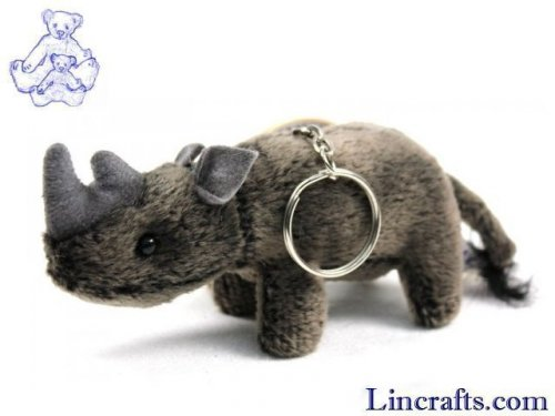 Soft Toy Rhino Keyring by Hansa (10cm)
