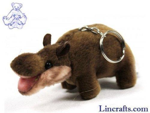 Soft Toy Hippo Keyring by Hansa (10cm)