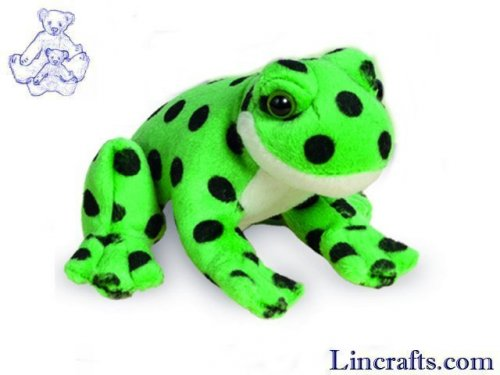 Soft Toy Green Frog by Teddy Hermann (13cm)