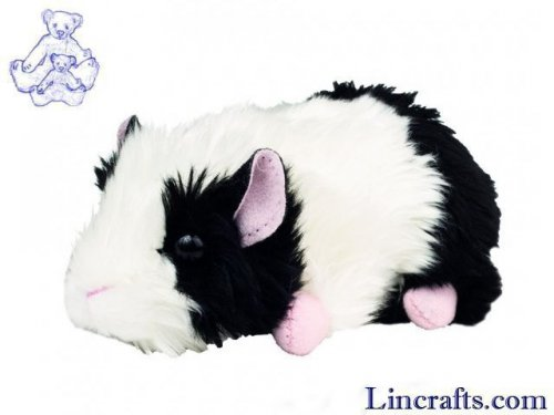 Soft Toy Guinea Pig black/white by Teddy Hermann 15 cm