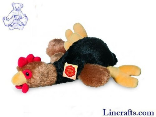 Soft Toy Bird, Lying Cockerel by Teddy Hermann (30cm)