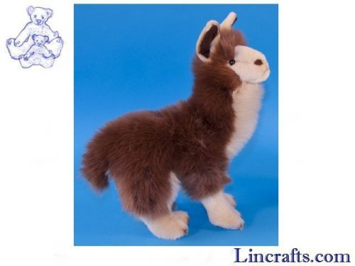 Soft Toy Brown Llama by Dowman Soft Touch (28cm)