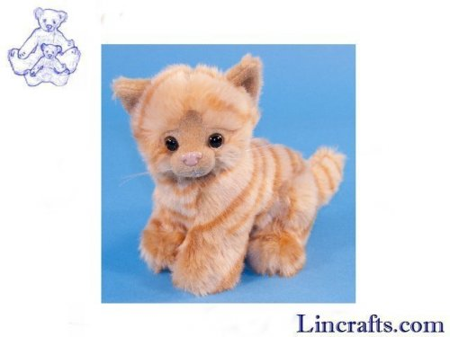 Soft Toy Ginger Cat by Dowman Soft Touch (17cm)