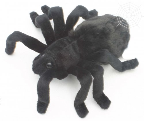Soft Toy Tarantula Black by Hansa (19cm)