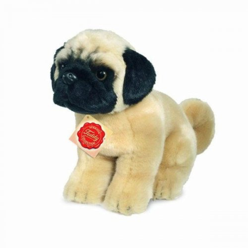 Soft Toy Dog, Pug by Teddy Hermann (15cm)